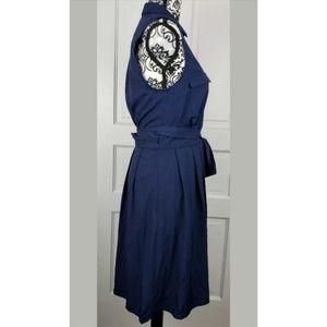41 Hawthorn Dresses - 👻 41 Hawthorn Blue Sleeveless Wrap Dress